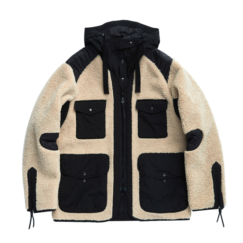 TRAVELER JACKET - BEIGE & BLACK