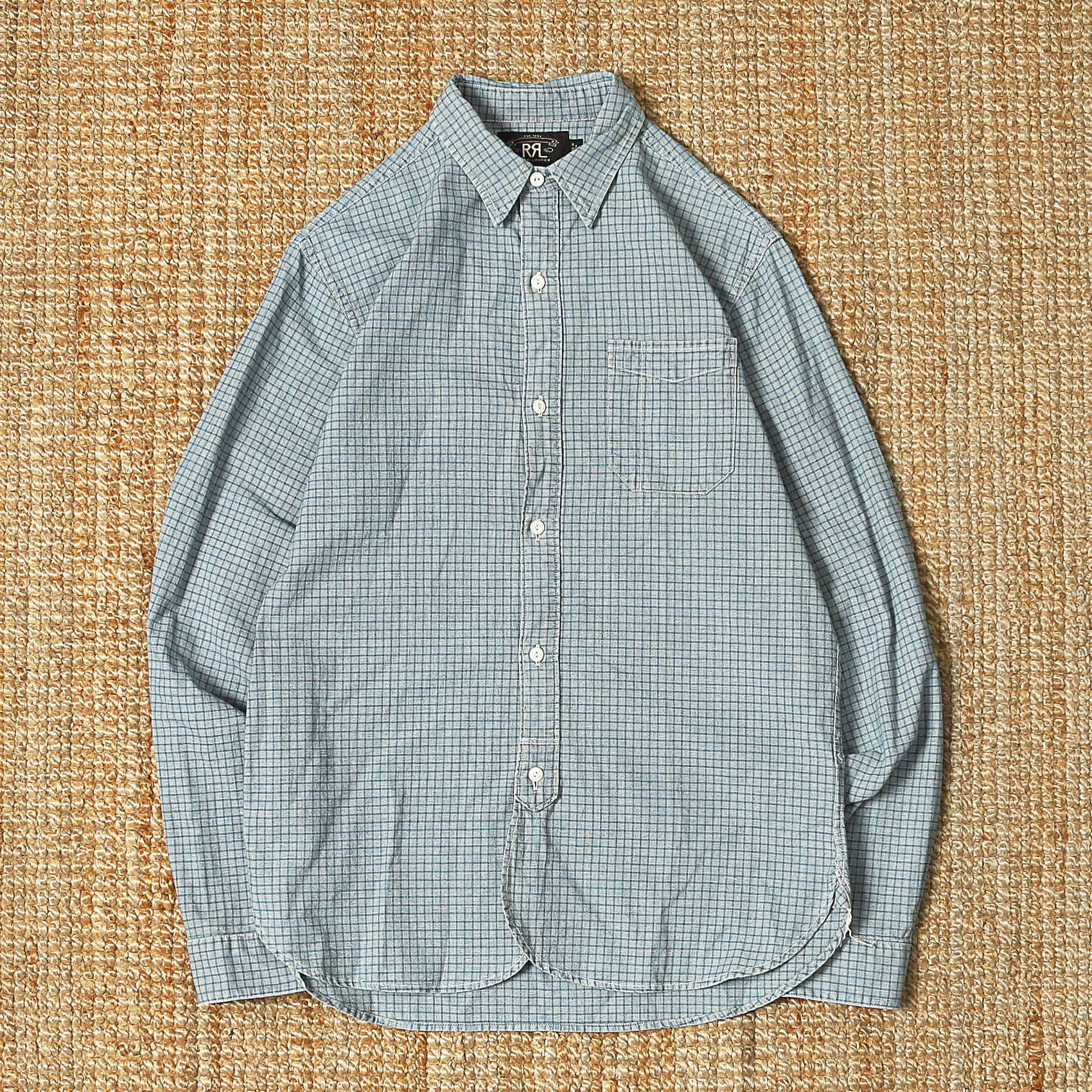 RRL CHECK SHIRT - BLUE