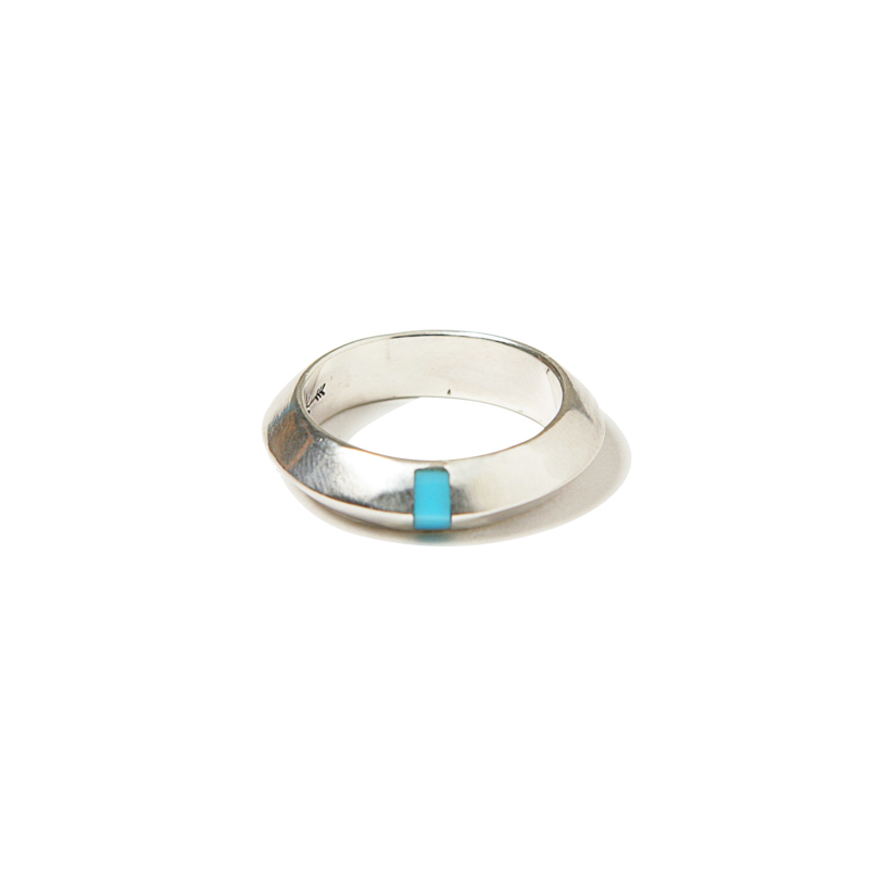 GEM INSERTED RING - TURQUOISE