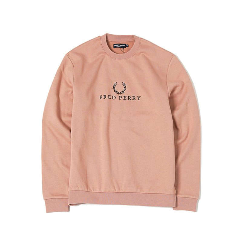 EMBROIDERED SWEATSHIRT - PINK