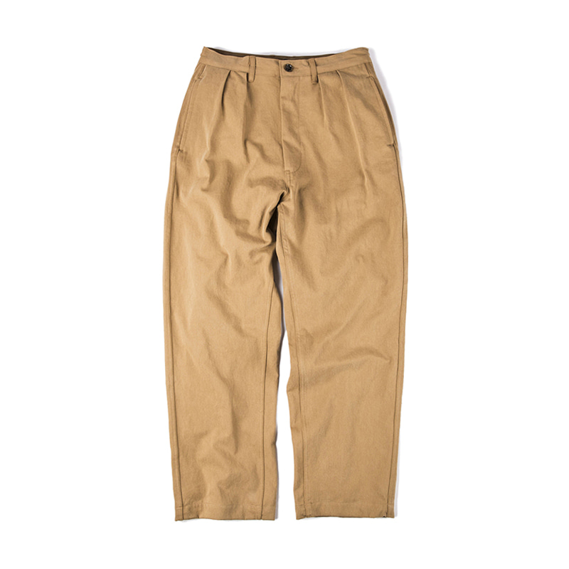 TWO TUCK PANTS - BEIGE