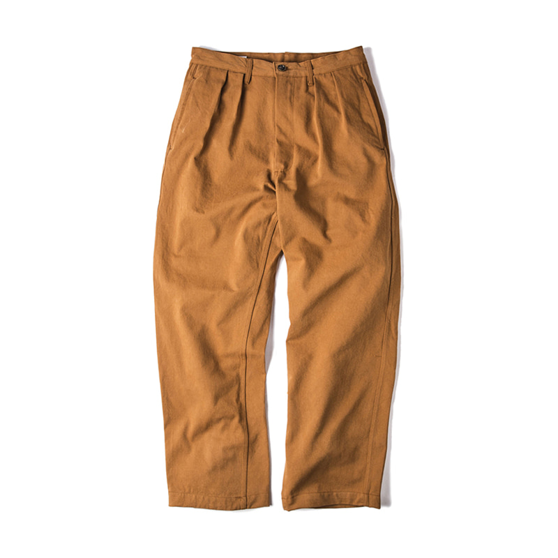 TWO TUCK PANTS - BRICK