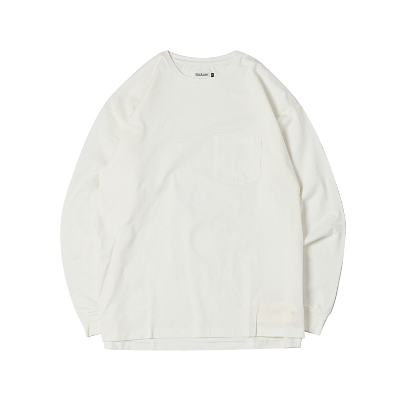 SOLID COLOR L/S TEE - WHITE