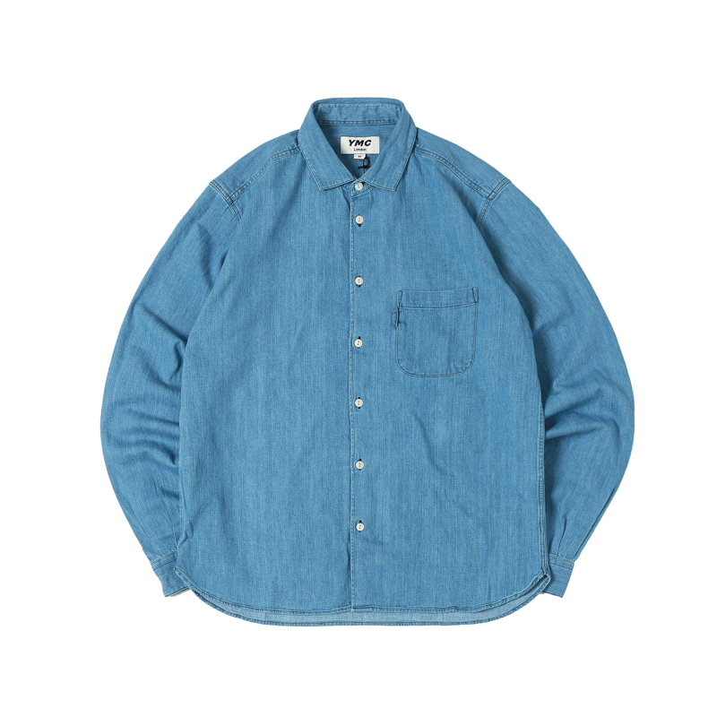 CURTIS SHIRT - INDIGO BLEACH