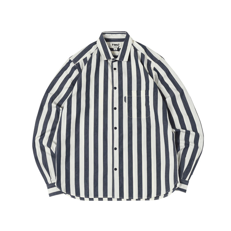 CURTIS SHIRT - NAVY/ECRU