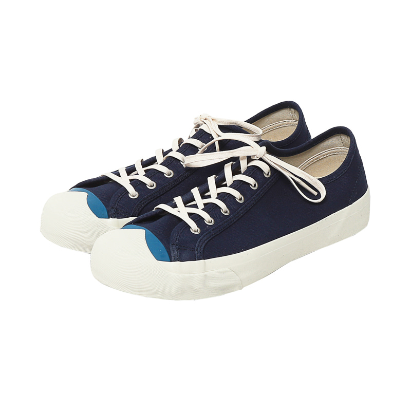 COLOUR TOE WING TIP TRAINER - NAVY