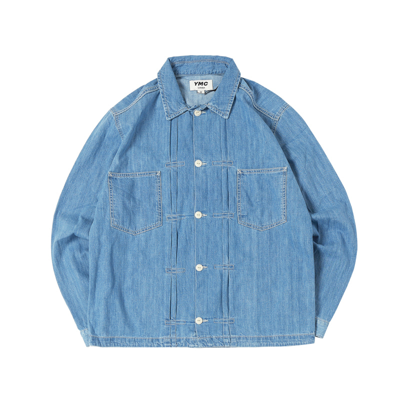 DENIM KIT JACKET - INDIGO BLEACH