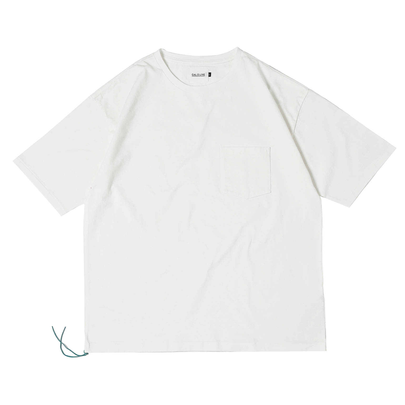 SOLID COLOR POCKET TEE - WHITE
