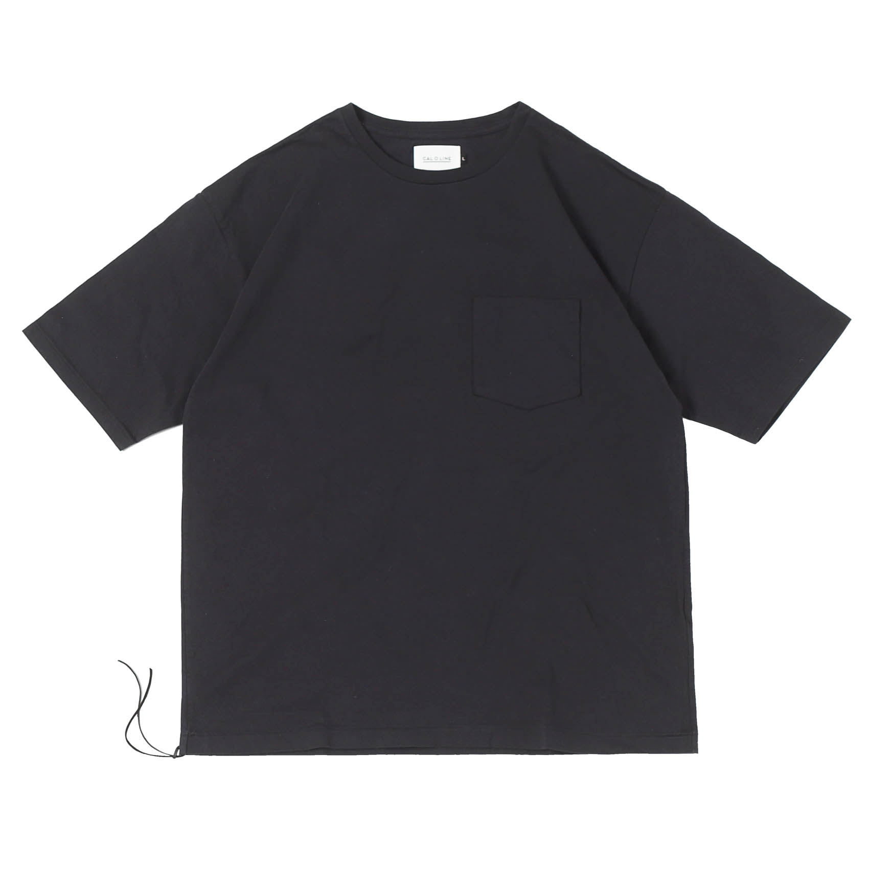 SOLID COLOR POCKET TEE - BLACK
