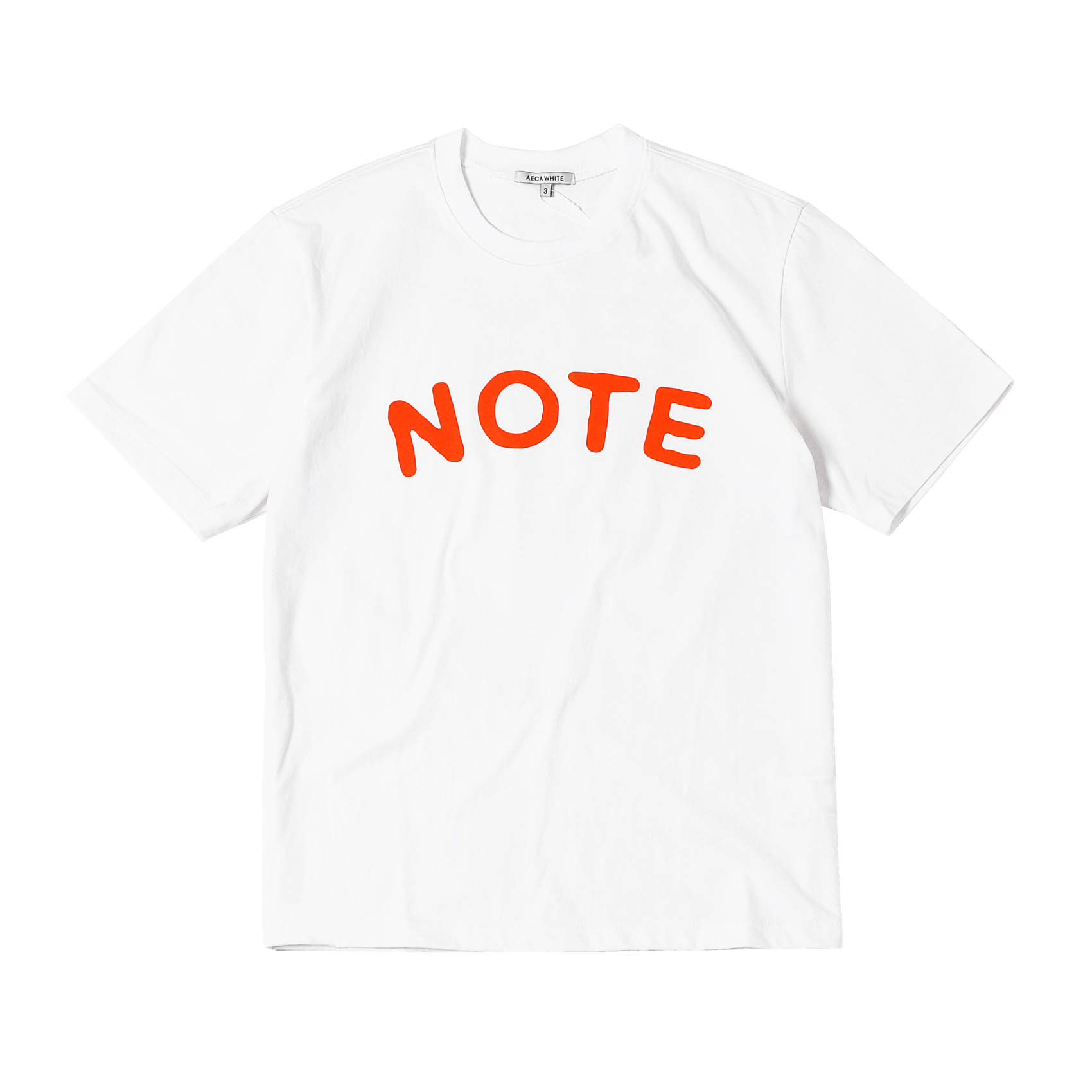 NOTE LOGO TEE - ORANGE