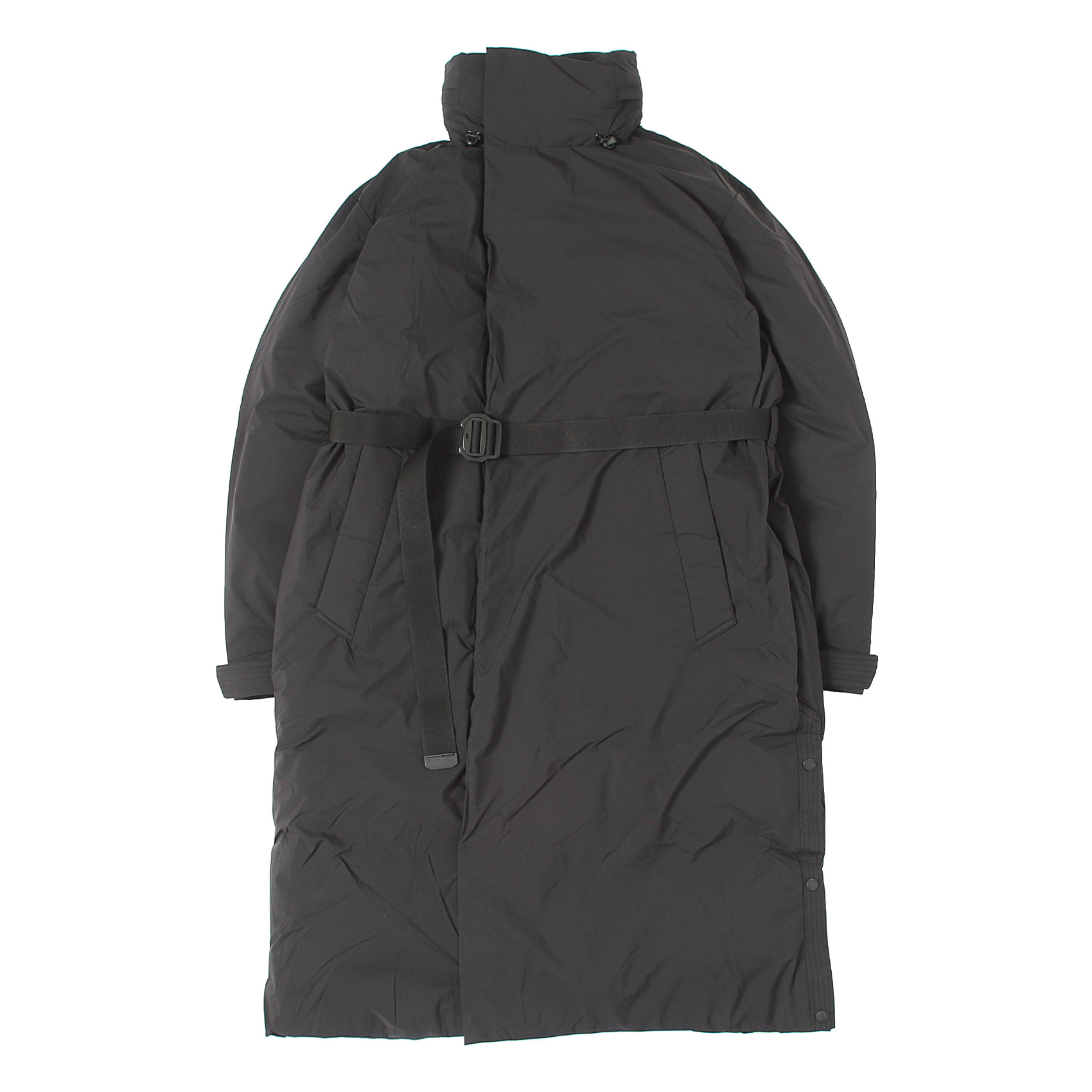 STAND LONG DOWN COAT - BLACK