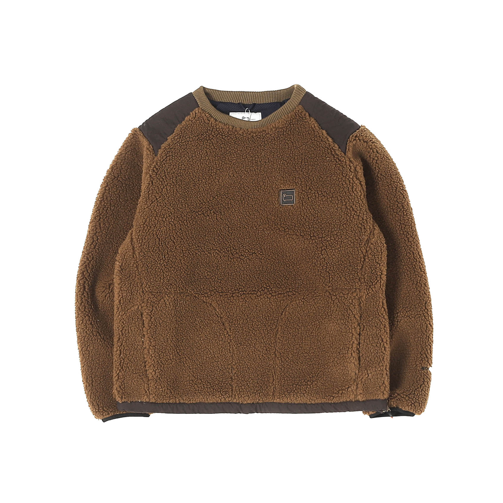 TERRA PILE FLEECE PULLOVER - BROWN