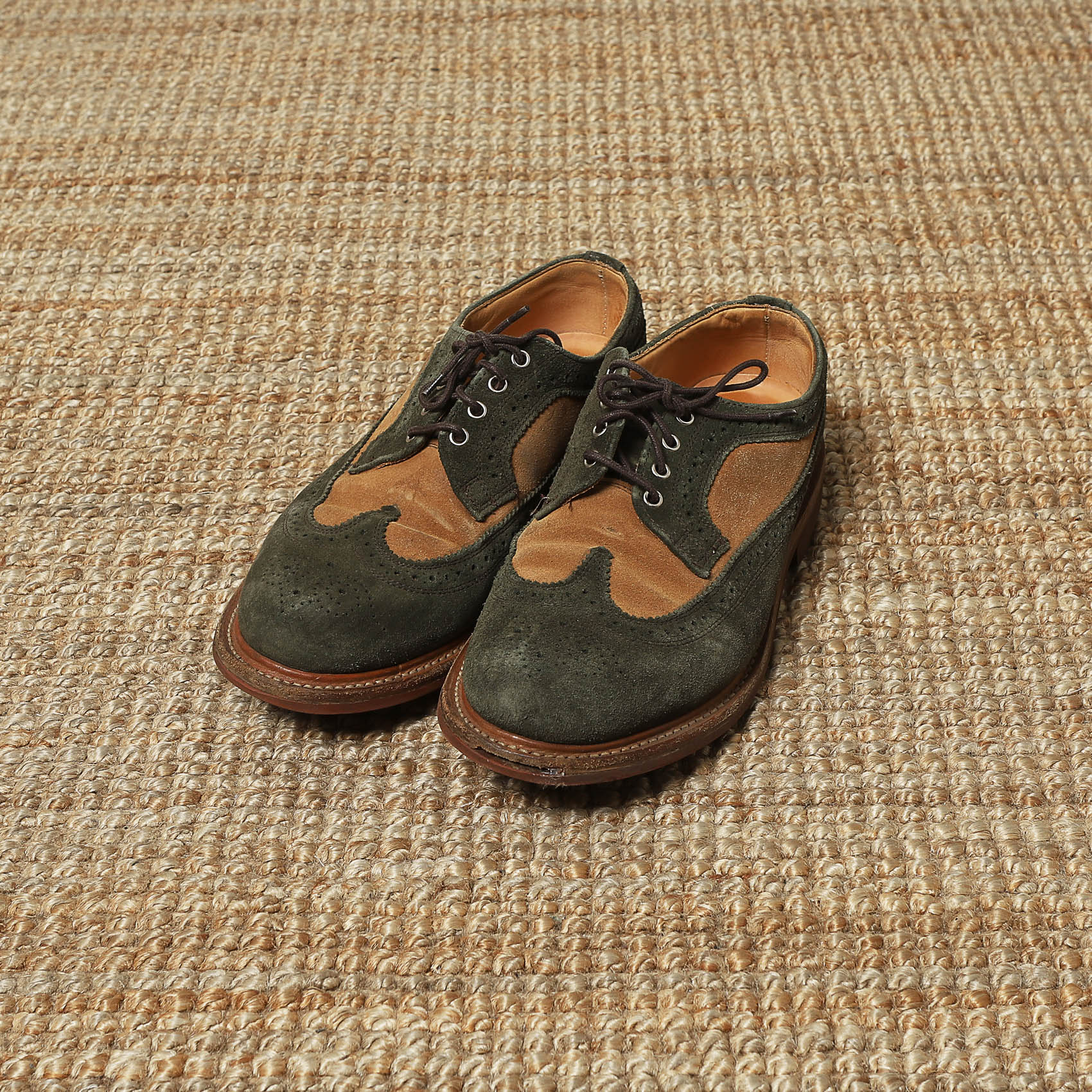 MARK MCNAIRY SUEDE WING TIP SHOES