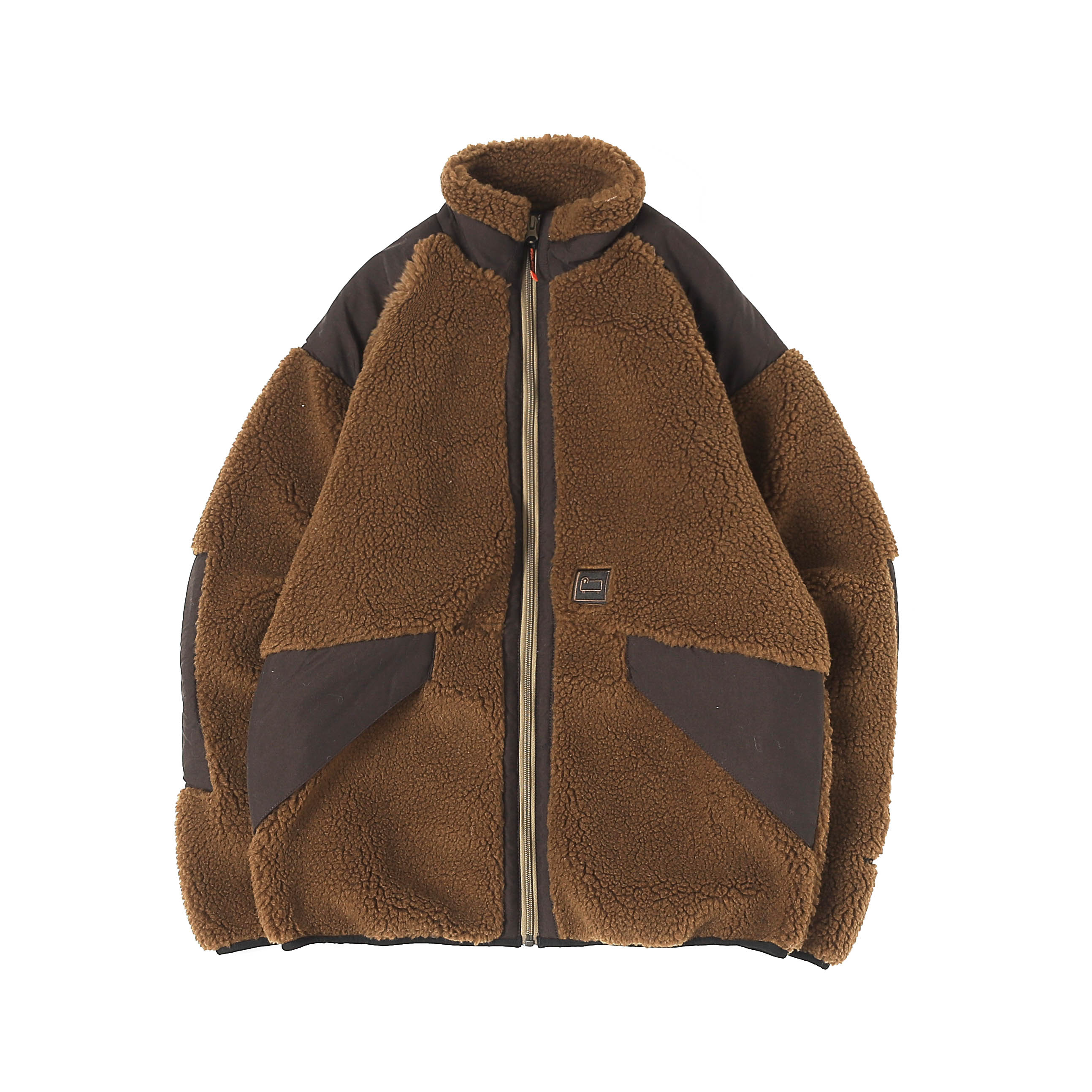 TERRA PILE FLEECE JACKET - BROWN