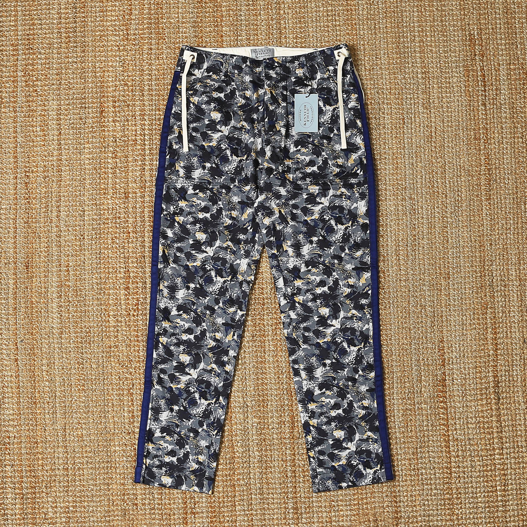 KENNETH FIELD CEREMONY TROUSER - PAINT NAVY