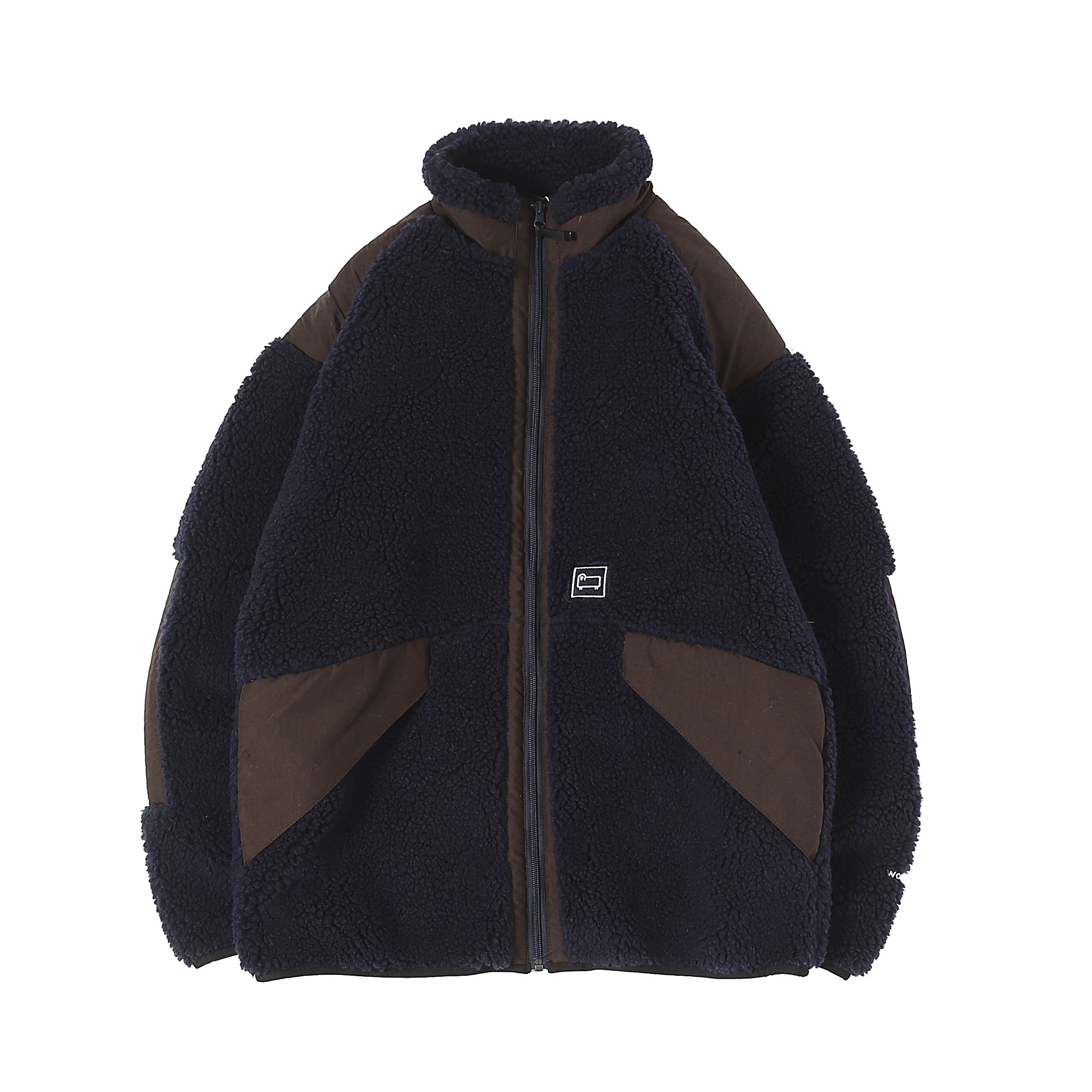 TERRA PILE FLEECE JACKET - NAVY