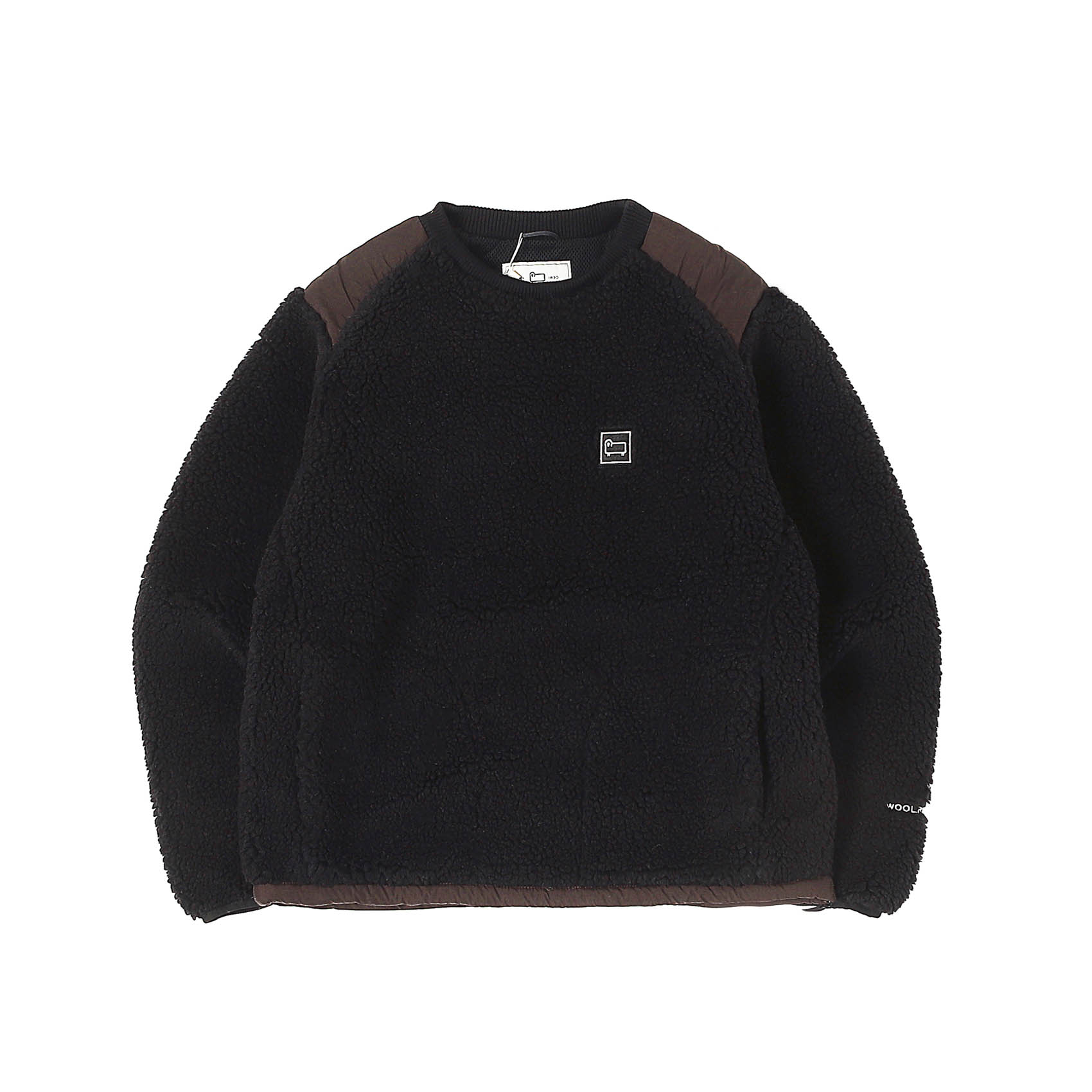 TERRA PILE FLEECE PULLOVER - BLACK
