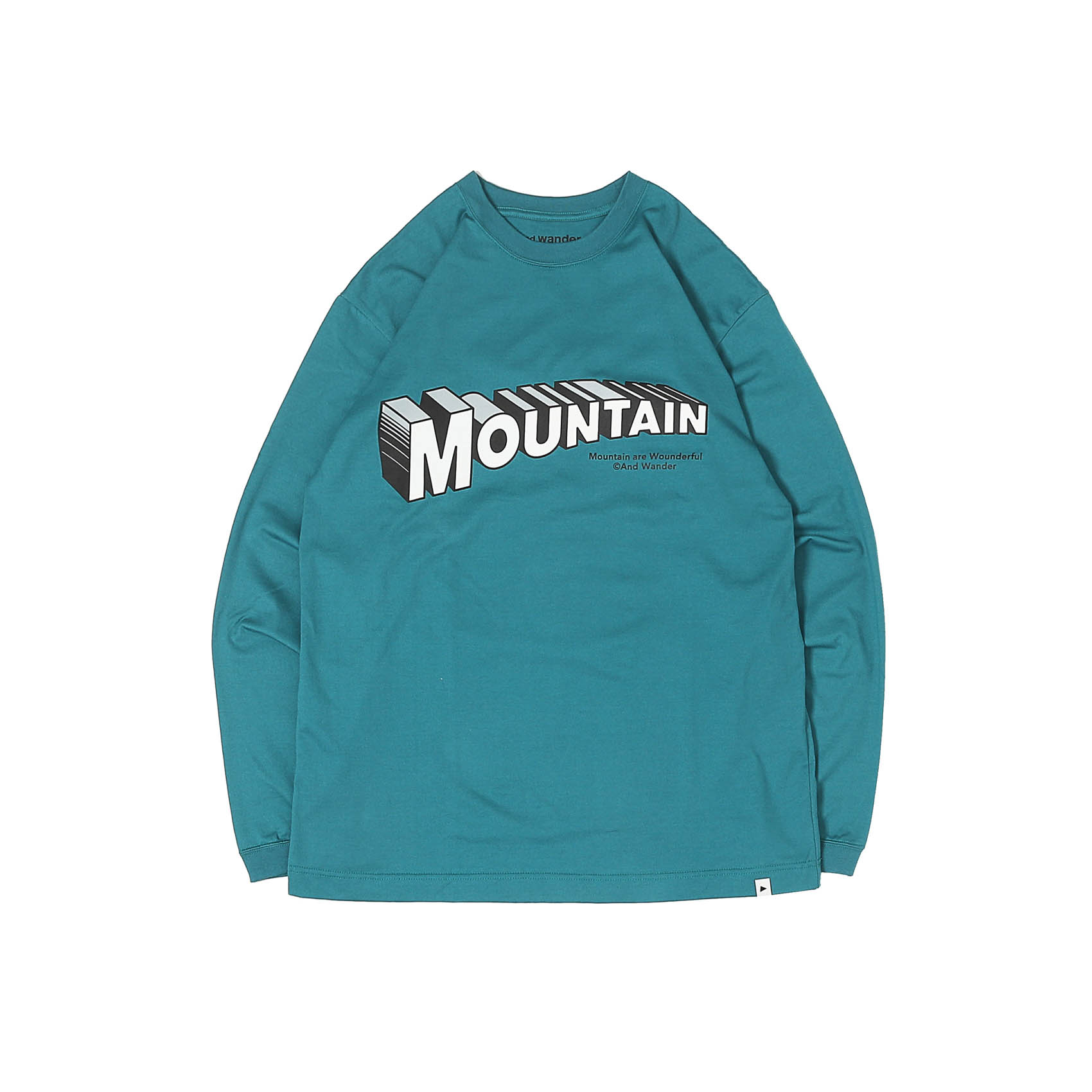 MOUNTAIN BY JERRY UKAI LONG SLEEVE TEE - BLUE