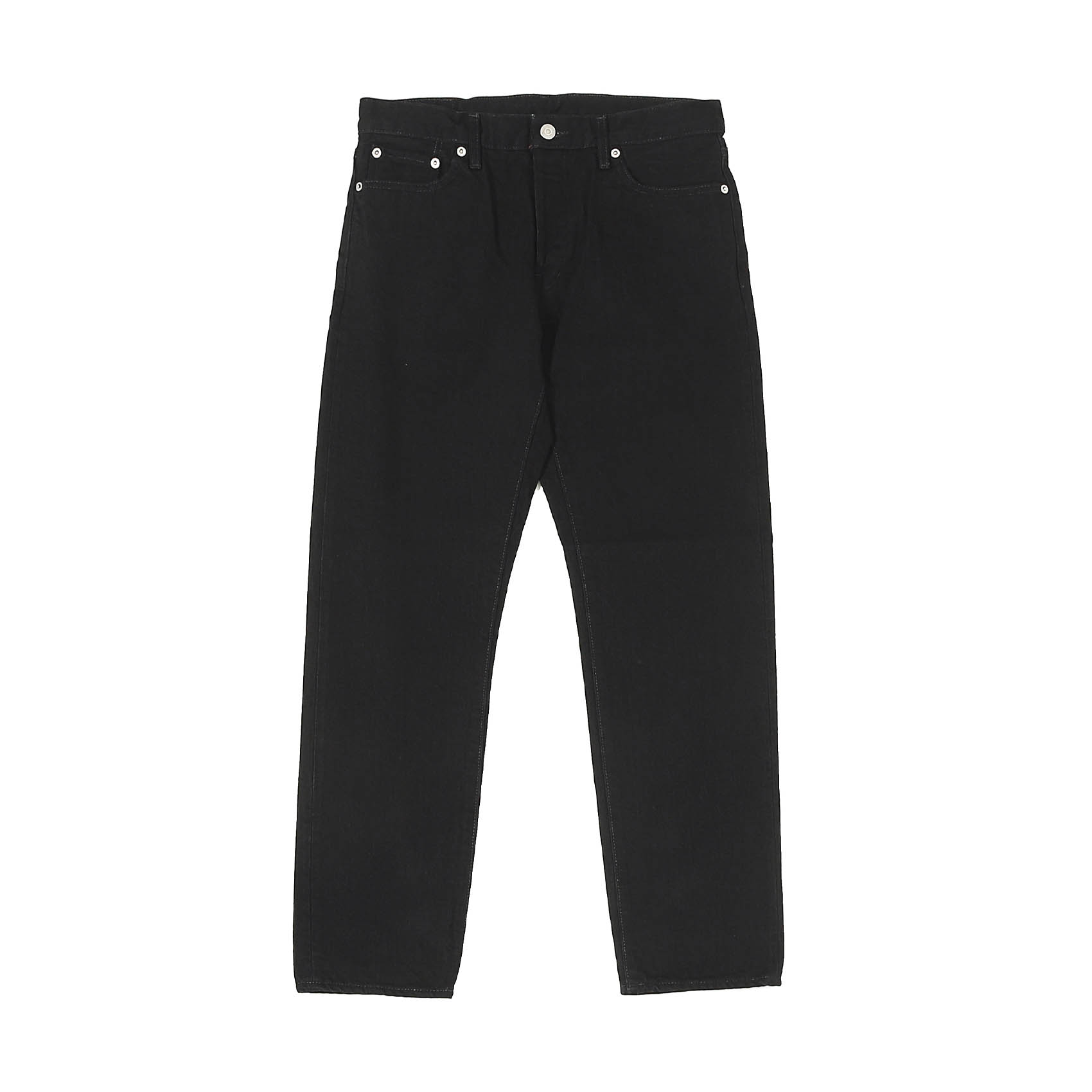 5 POCKET ROLL UP DENIM PANTS - BLACK OW