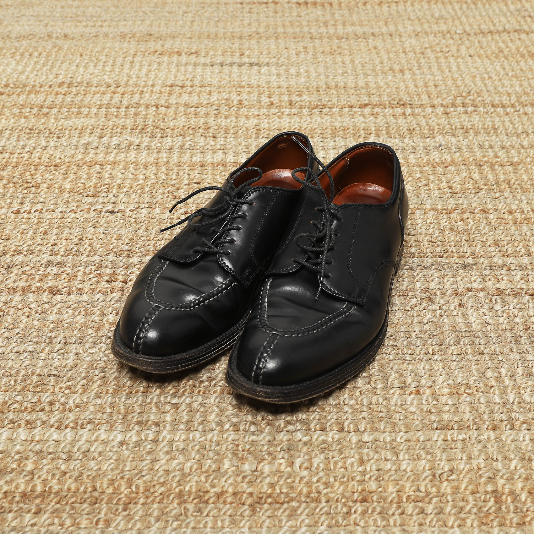 ALDEN NORWEGIAN SPLIT TOE BLUCHER BLACK SHELL CORDOVAN 2211