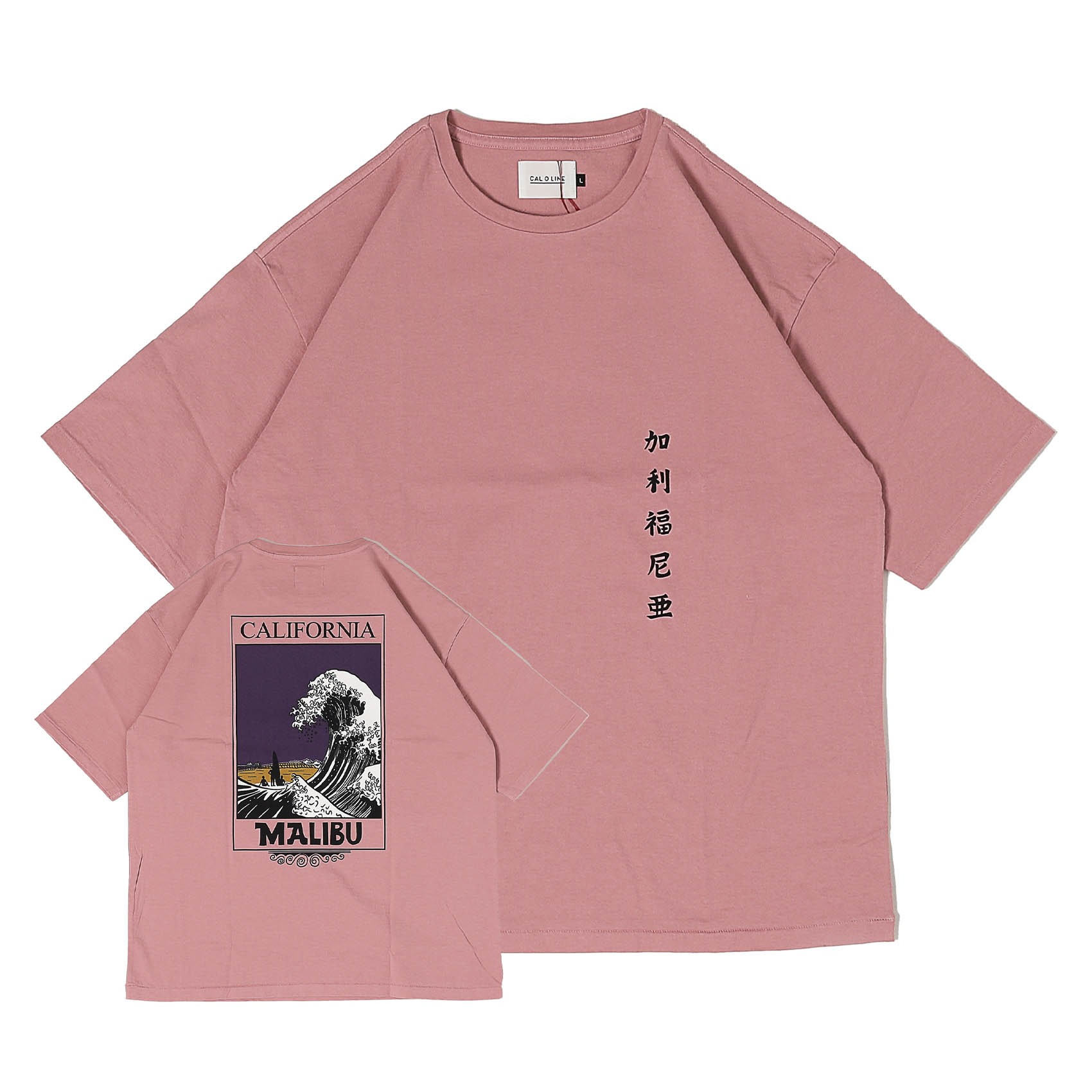 CALIFORNIA WAVE T-SHIRT - OLD PINK