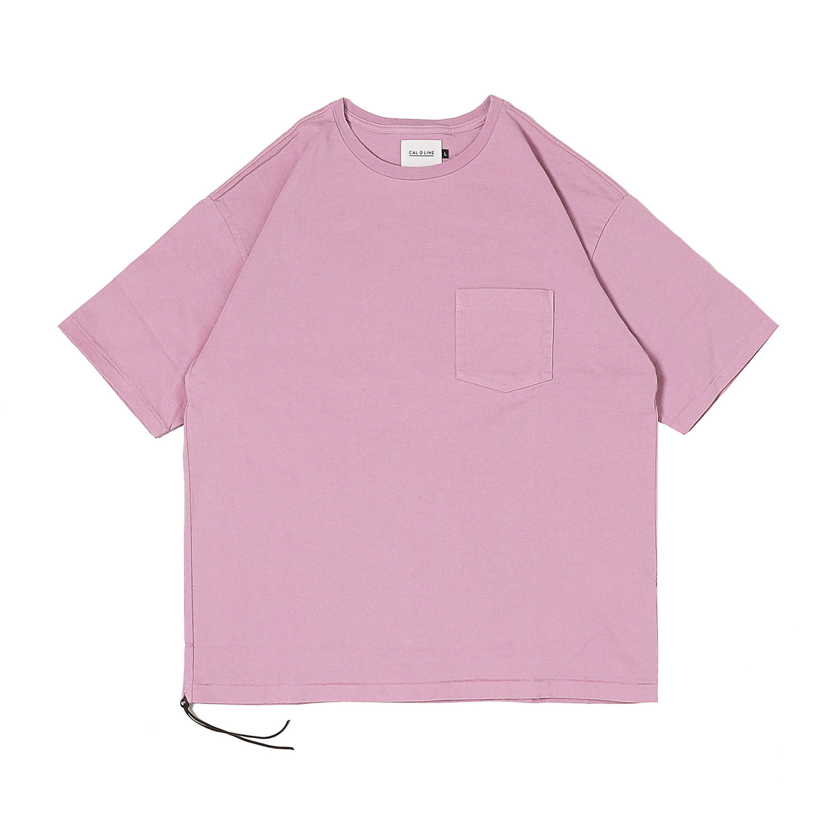 SOLID COLOR POCKET TEE - MAUVE