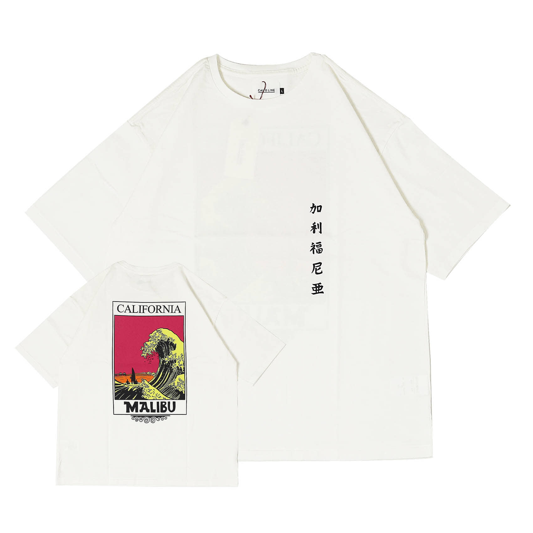 CALIFORNIA WAVE T-SHIRT - WHITE B