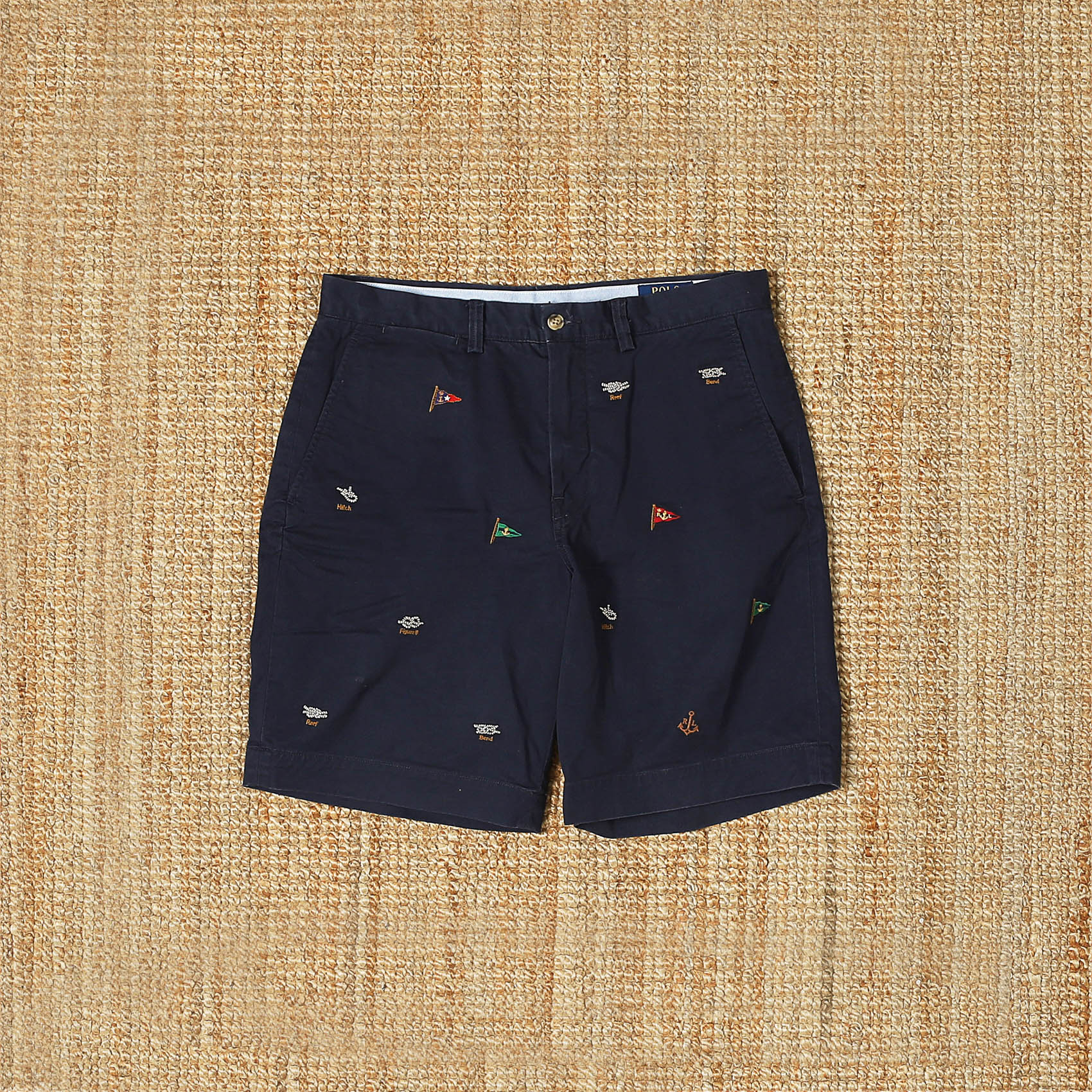 POLO RALPH LAUREN EMBROID SHORT - NAVY