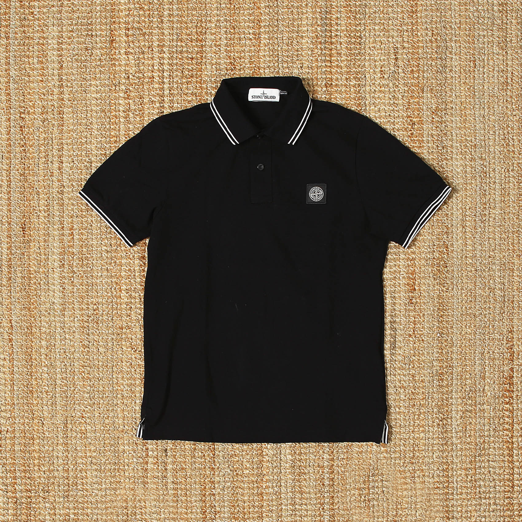 STONE ISLAND POLO T SHIRTS - BLACK